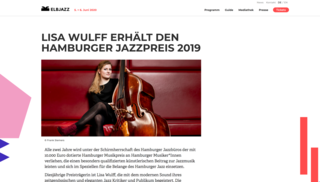 June 2019  And the Hamburg Jazz Music Award  goes to ............Lisa Wulff! Congrats!